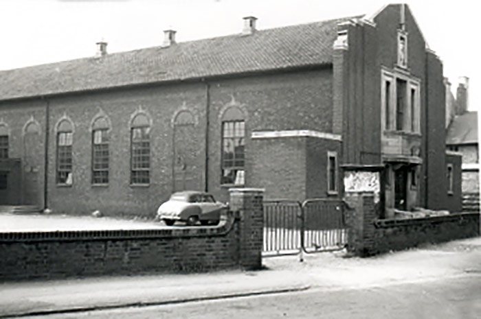 Elwes Hall in the early 1960s, shortly before its closure in 1967